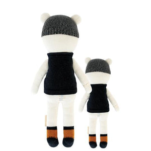 Cuddle + Kind - Hudson the Polar Bear Hand Knit Doll - Little 13""