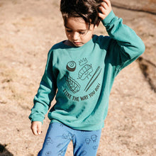 Load image into Gallery viewer, Kira Organic Raglan Sweatshirt Turqouise
