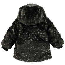 Load image into Gallery viewer, Babyface - Girls Furry Winter Coat - Antra