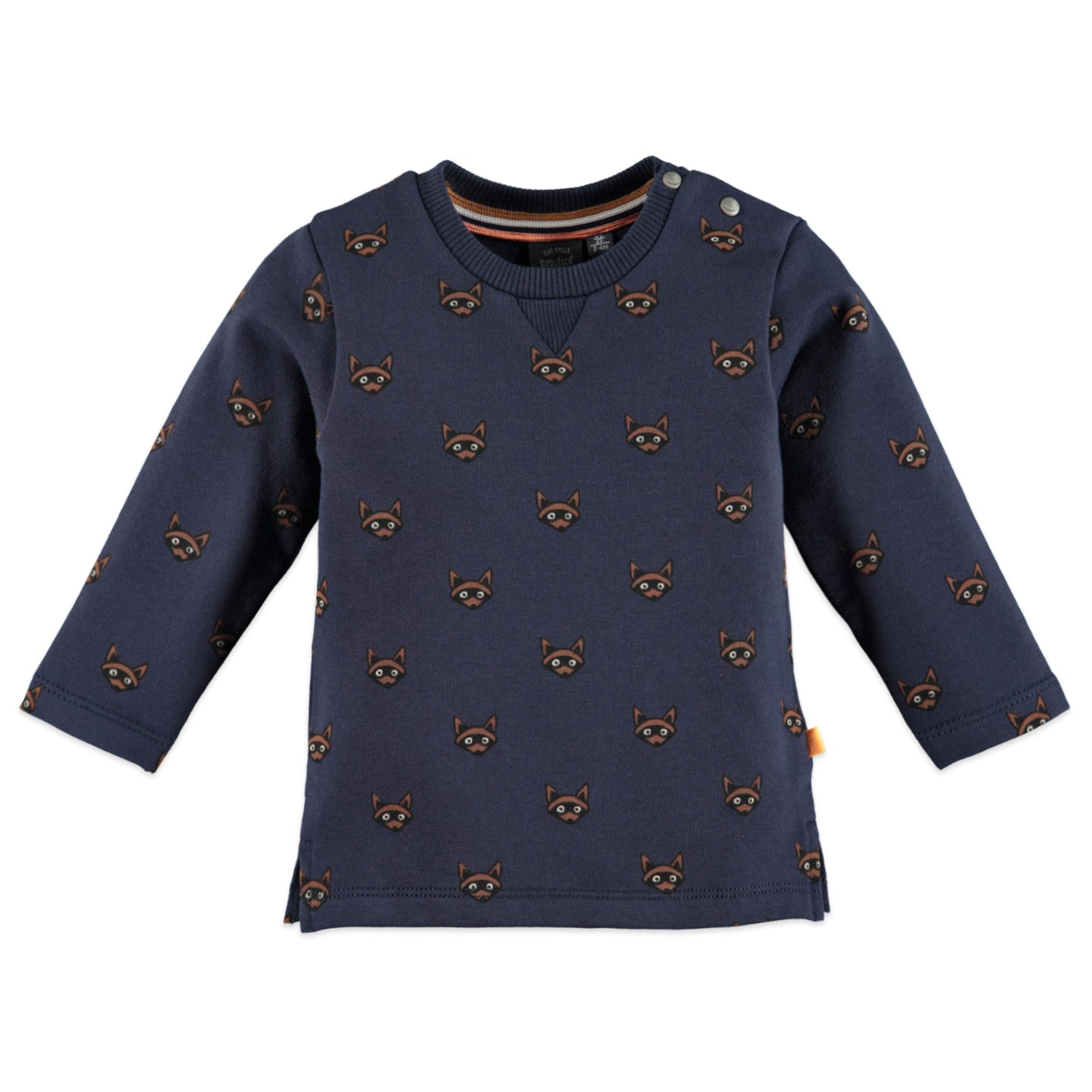 Babyface - Organic Baby Raccoons Long Sleeve Top - Navy