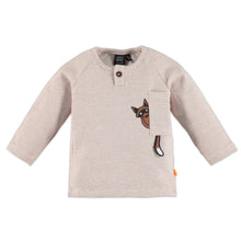 Load image into Gallery viewer, Babyface - Organic Baby Raccon Striped Long Sleeve - Caramel