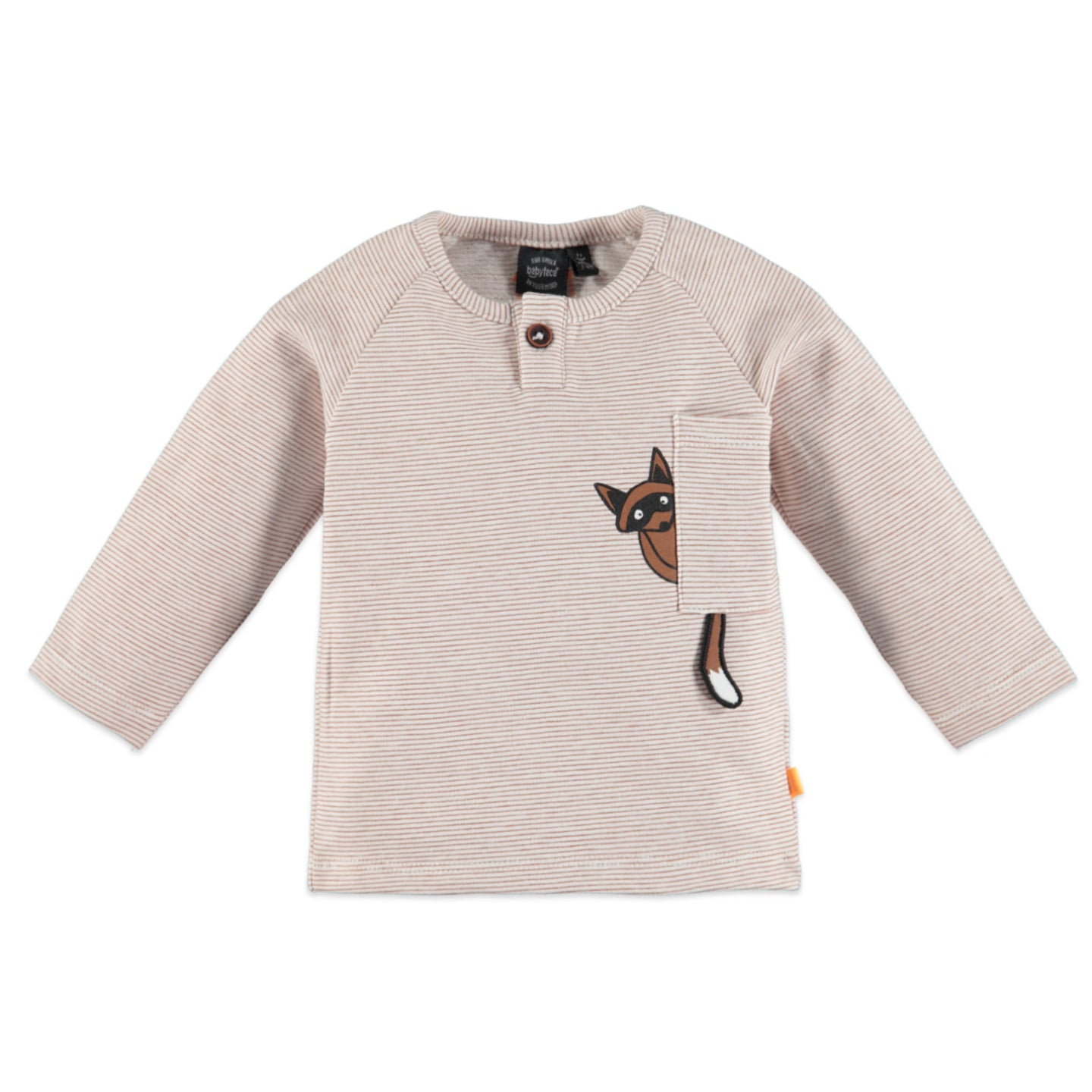 Babyface - Organic Baby Raccon Striped Long Sleeve - Caramel