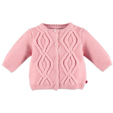 Load image into Gallery viewer, Babyface - Organic Baby Girl Cardigan - Pink Haze