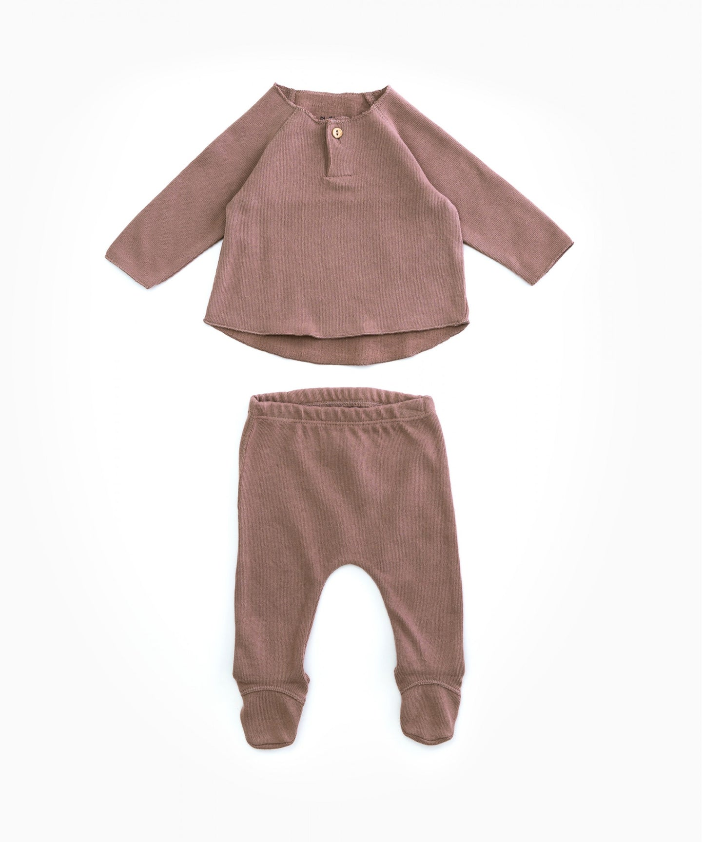 Play Up - Organic Cotton Top & Footed Bottoms Set - Purplework