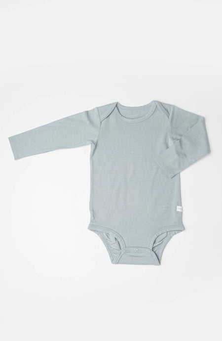 Loulou Lollipop - Long Sleeve Bodysuit in TENCEL - Slate