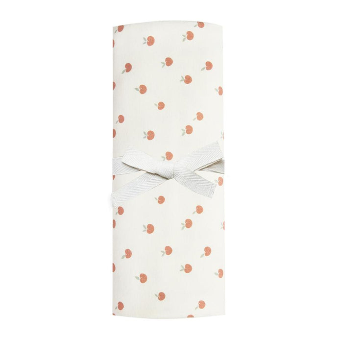 Quincy Mae - Organic Brushed Jersey Baby Swaddle - Ivory/Peach