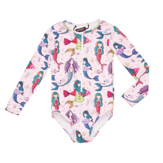 Rock Your Baby - Splash Long Sleeve One Piece - Pink