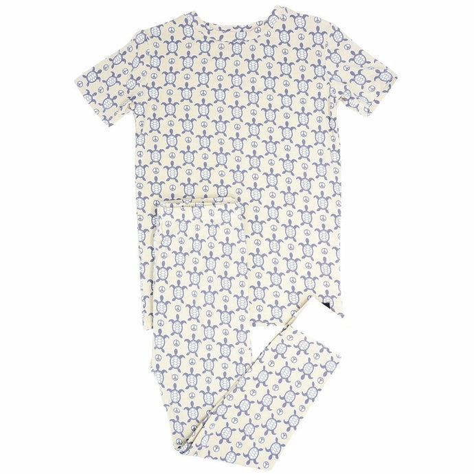 Sweet Bamboo - Big Kid Pj's Short Sleeve/Long Pant - Peaceful Turtle
