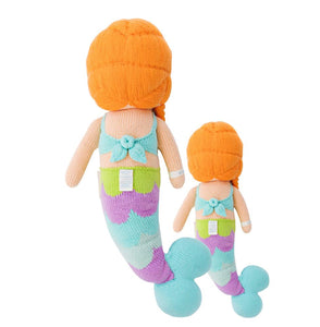 Cuddle + Kind - Isla the Mermaid, Hand Knit Doll - Little 13""