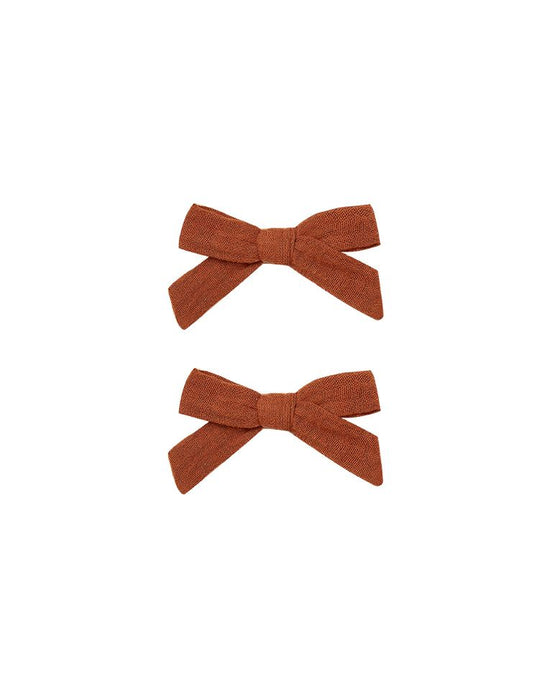 Rylee + Cru - Bow W Clip Set of 2 - Amber