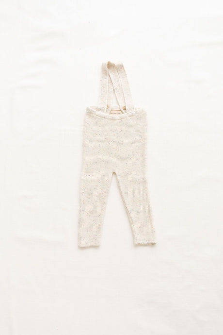 Fin & Vince - Knitted Suspender Pant - Confetti