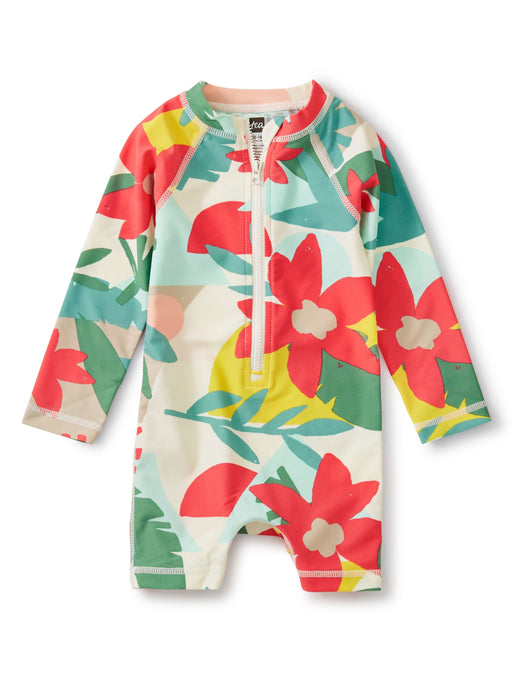 Tea Baby Rash Guard One-Piece - Oasis Floral
