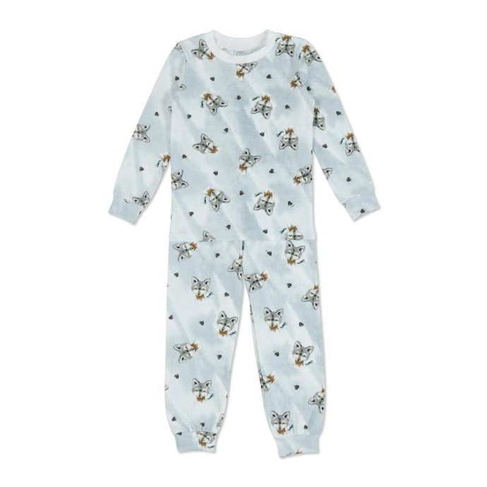 Esme - Wolf Full Length Long Sleeve Pajamas