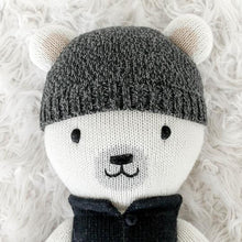 Load image into Gallery viewer, Cuddle + Kind - Hudson the Polar Bear Hand Knit Doll - Little 13""