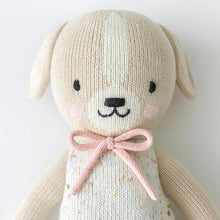 Load image into Gallery viewer, Cuddle + KInd - Mia the Dog Hand Knit Doll - Little 13""