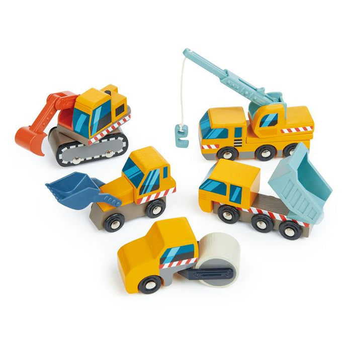 Tender Leaf Toys - Construction Site Trucks