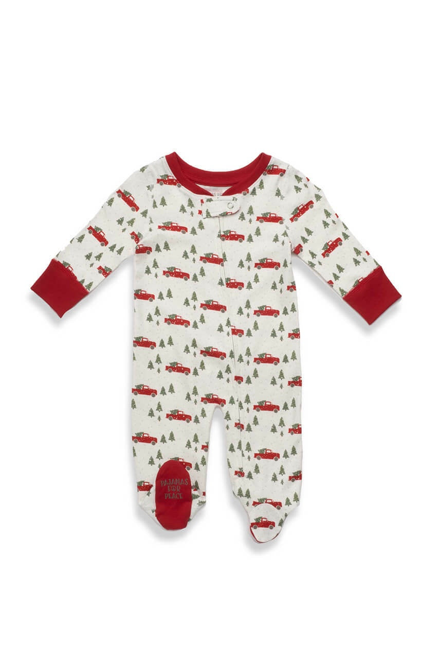Pajamas For Peace - Trim a Tree - Plant a Tree Baby Neutral Footie