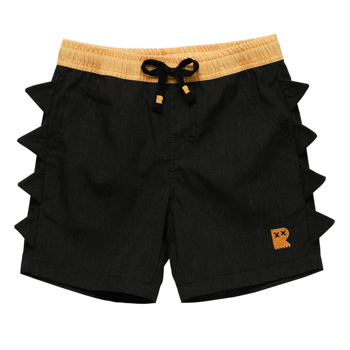 Rock Your Baby - Dino Boardshorts - Black