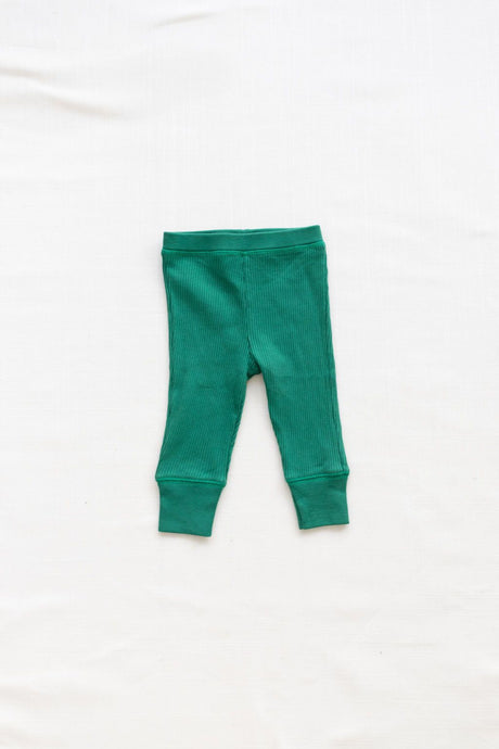 Fin & Vince - Organic Ribbed Pants - Emerald