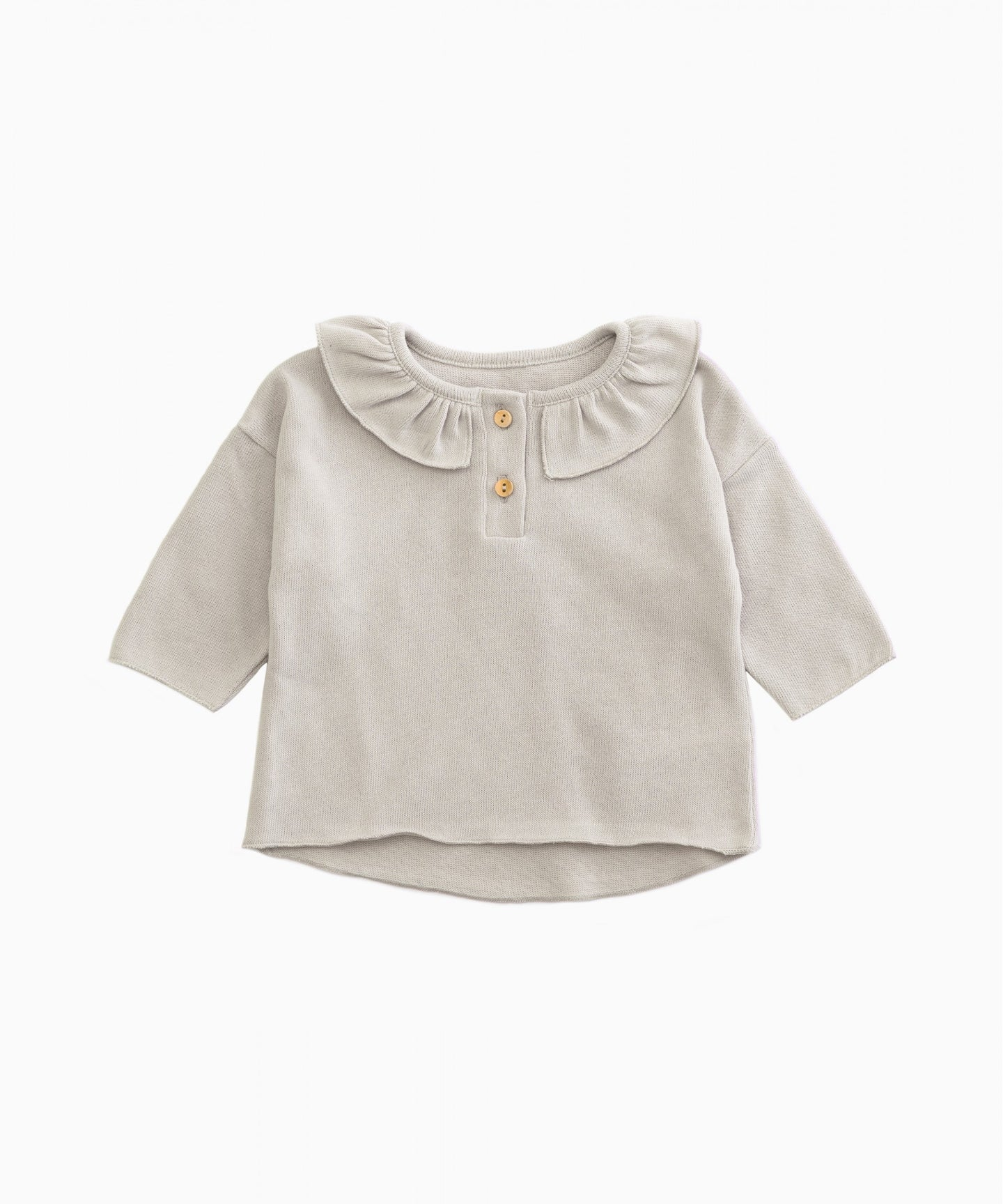 Play Up - Organic Cotton Frill Collar Top - Ricardo
