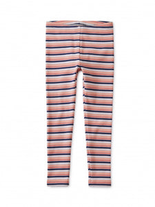 Tea Collection - Striped Ribbed Legging - Stratus