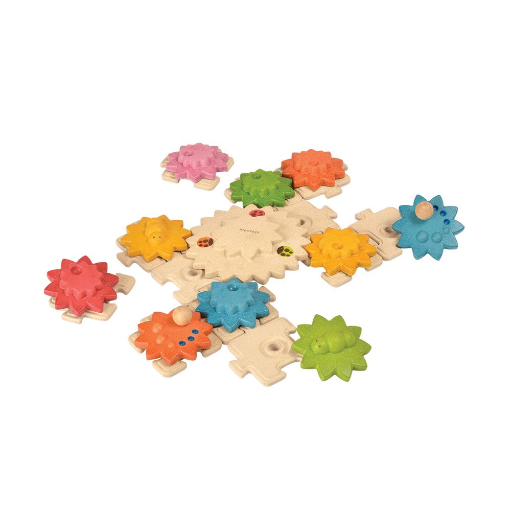 Plan Toys - Gears & Puzzles Deluxe