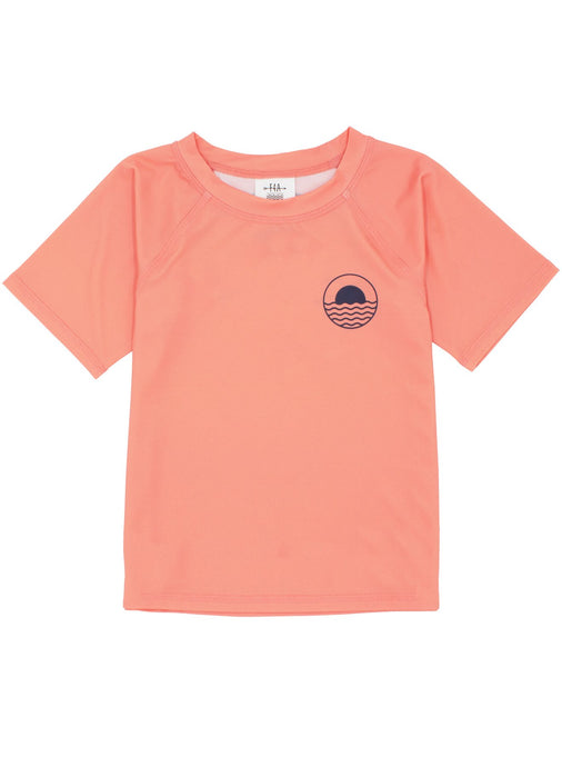 Icon Rash Top - Coral Crush
