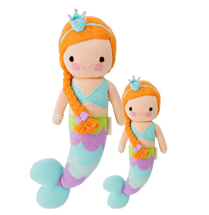 Cuddle + Kind - Isla the Mermaid, Hand Knit Doll - Little 13
