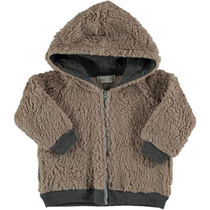 Bean's Barcelona - Polar Zipped Furry Jacket - Tan