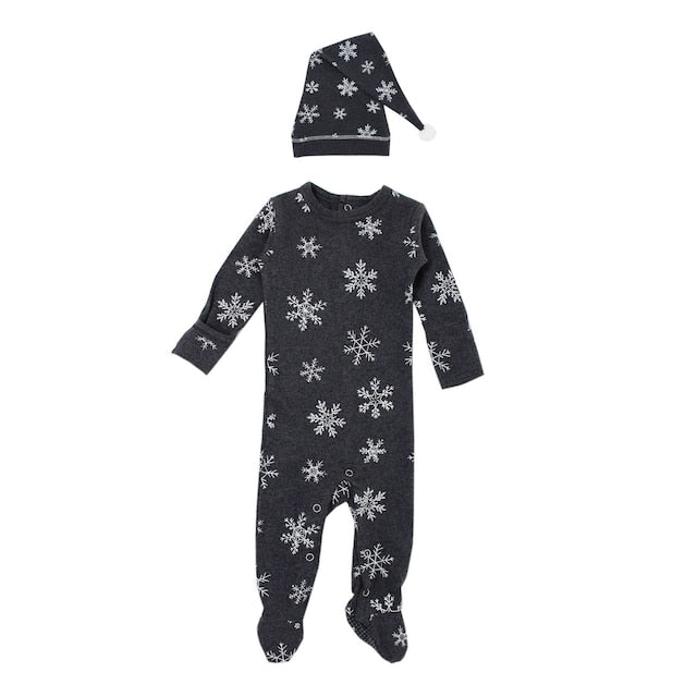 L'ovedbaby Organic Overall & Cap Set - Frost