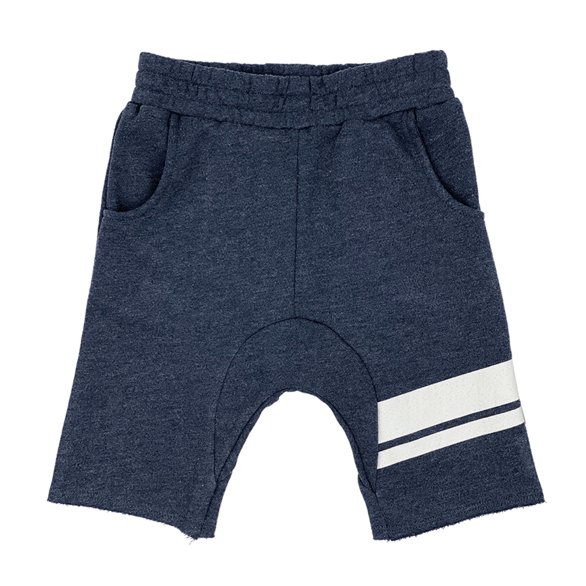 Tiny Whales - Off Duty Cozy Time Shorts - Heather/Navy