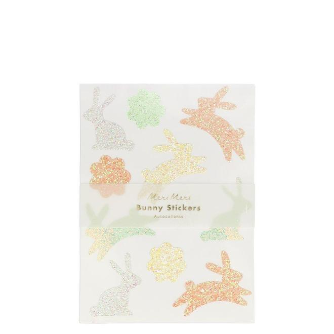Meri Meri Glitter Bunny Sticker Sheets