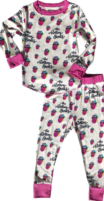 Rowdy Sprout - Rolling Stones Bamboo Base Layer Set - Pink Trim