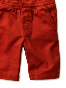 Tea Collection - Easy Does It Twill Shorts - Maple
