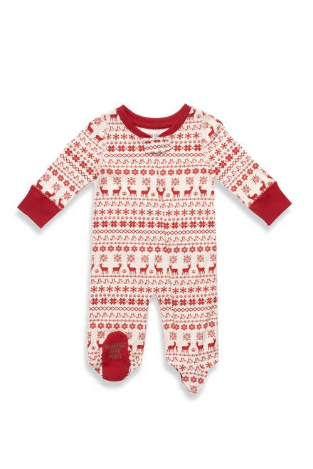 Pajamas For Peace - Nordic Baby Neutral Footie - Red