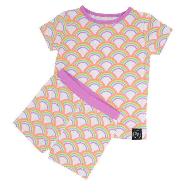 Bamboo Summer Pj Set - Rockin Rainbow