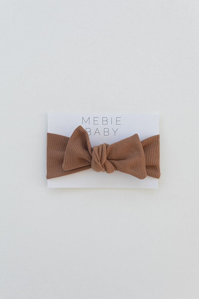 Mebie Baby - Mustard Organic Cotton Ribbed Head Wrap