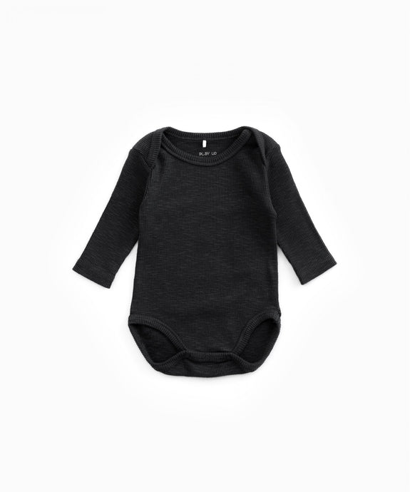Play Up - Organic Cotton Ribbed Bodysuit - Rasp
