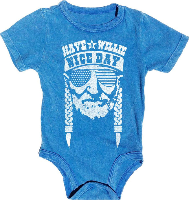 Rowdy Sprout - Have a Willie Nice Day - Simple Onesie Bluebird