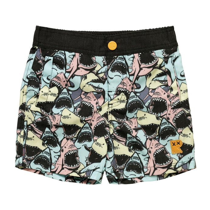 Rock Your Baby - Shiver Boardshorts Shark Print - Multi