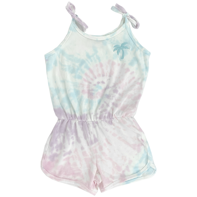 Tiny Whales - Sunset Romper - Multi Tie Dye