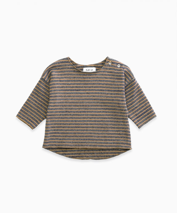 Play Up - Organic Striped Jersey Top - Cherry Tree