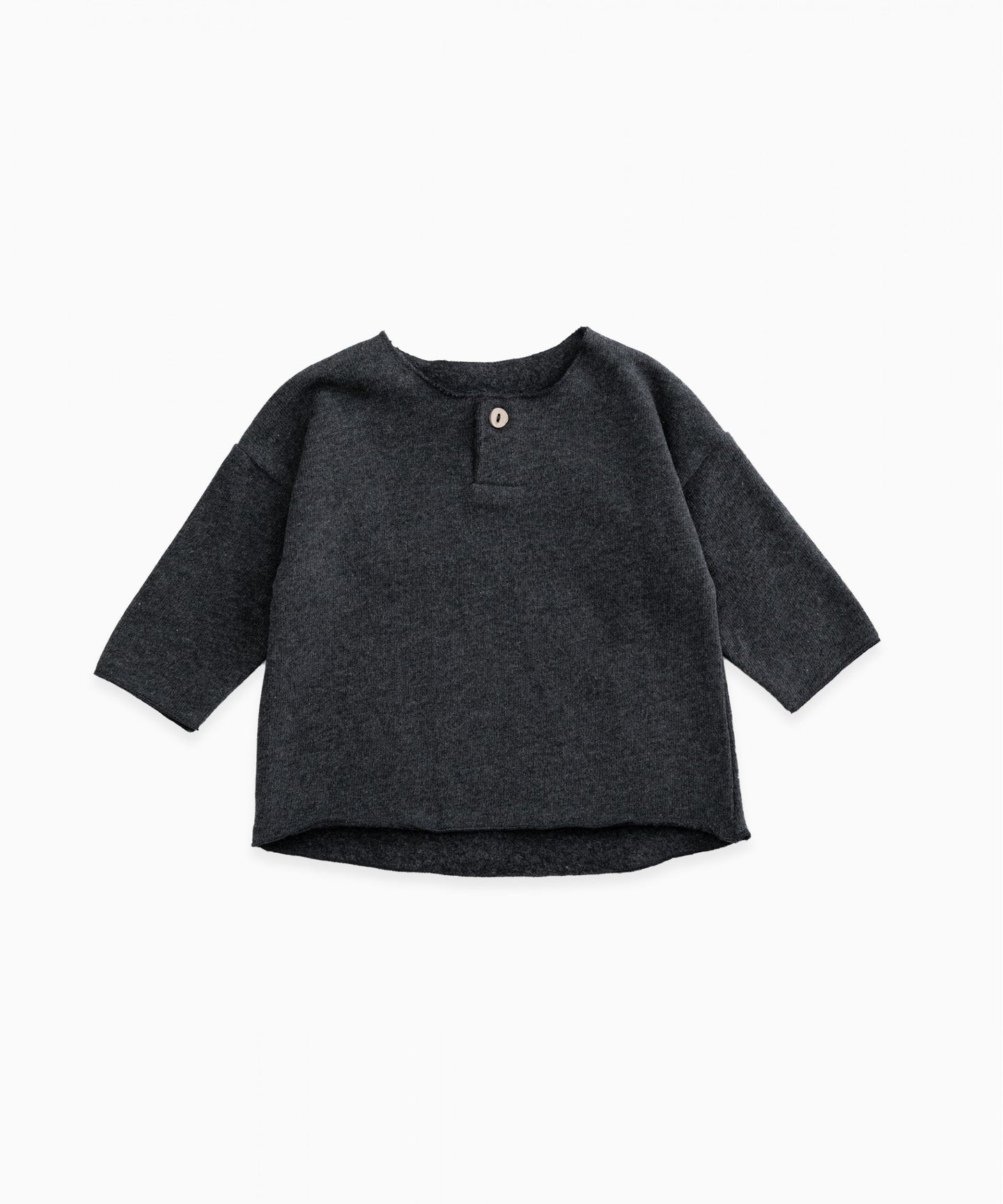 Play Up - Organic Cotton Top W/ Wood Button - Rasp