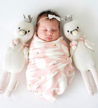 Load image into Gallery viewer, Cuddle + Kind - Harlow the Swan Hand Knit Doll - Little 13""