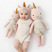 Load image into Gallery viewer, Cuddle + Kind - Ella the Unicorn Hand Knit Doll - Little 13""