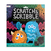 Scratch & Scribble Art Kit - Monster Pals