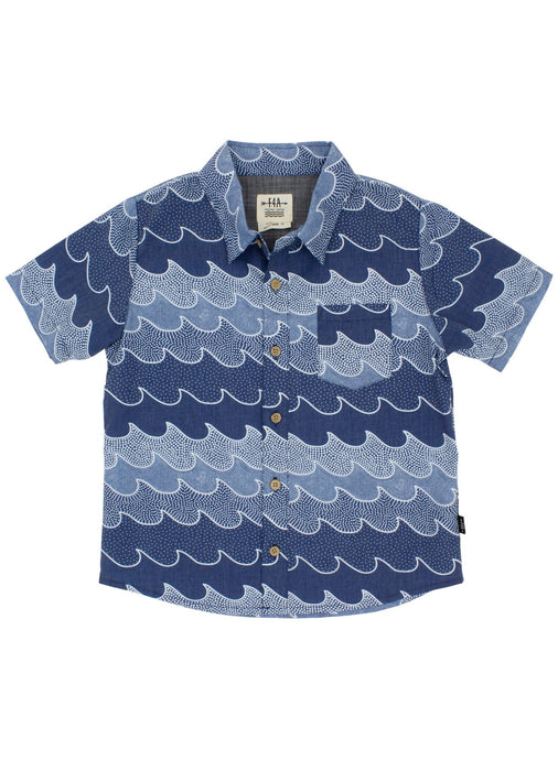 Cosmic Button Down Woven - Navy