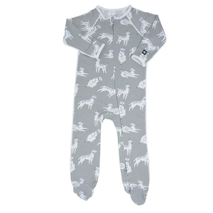 Sweet Bamboo - Bamboo Piped Zipper Footie - Dalmations
