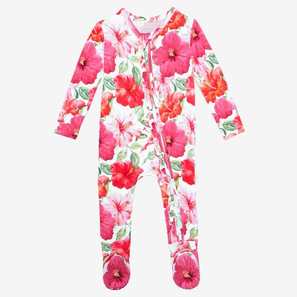 Posh Peanut - Maui - Footie Ruffled Zippered One Piece