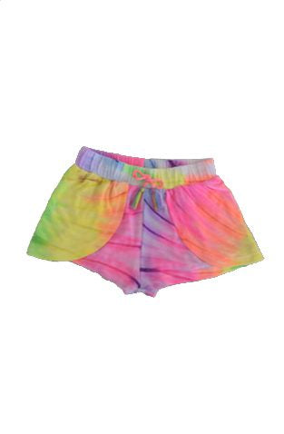 Flowers by Zoe - Neon Tye Dye Tassle Shorts